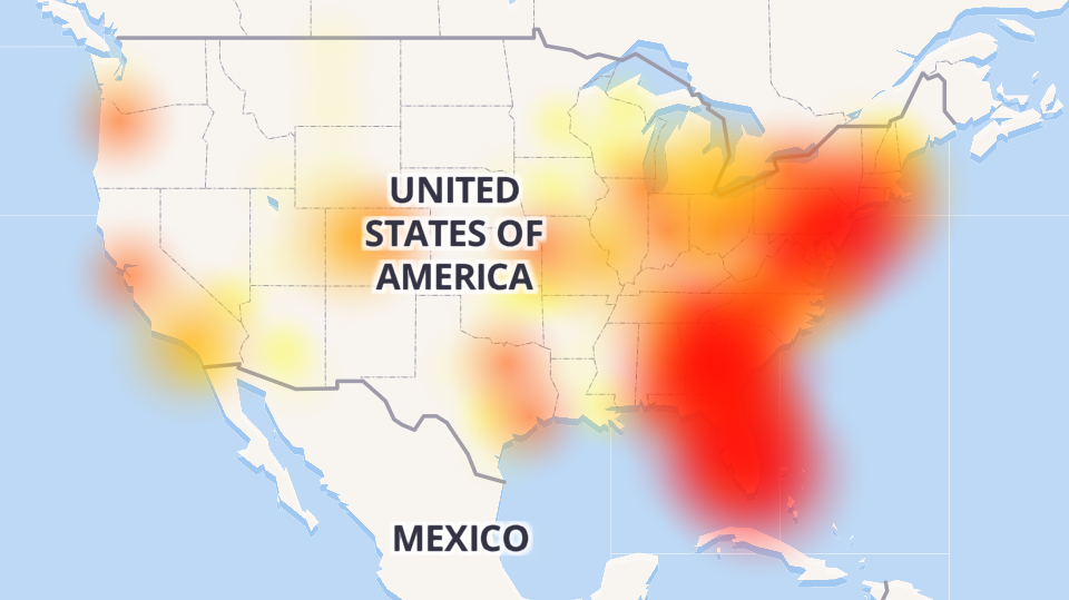 Which Primary US Tier 1 Carriers Have Major Outages